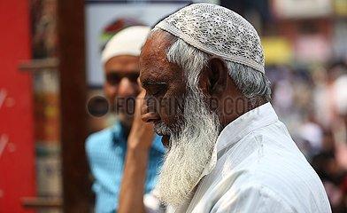 NEPAL-KATHMANDU-HEILIGEN MONAT-RAMADAN-PRAYERS