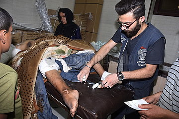 SYRIA-ALEPPO-REBEL-MORTAR SHELLING