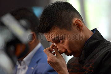 (SP)MALAYSIA-PUTRAJAYA-BADMINTON-LEE CHONG WEI-RETIREMENT