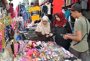 MIDEAST-GAZA-Eid al-Fitr-MARKET