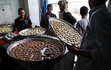 YEMEN-SANAA-EID AL-FITR-TRADITION