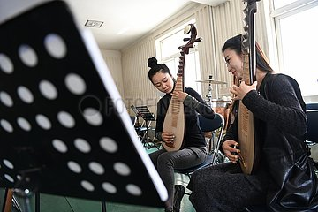 CHINA-MUSICAL INSTRUMENTS-GANSU-PIPA (CN)