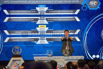 (SP)MALAYSIA-KUALA LUMPUR-AFC CHAMPIONS LEAGUE KNOCKOUT STAGE DRAW
