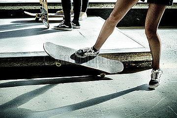 Jugendliche Skater