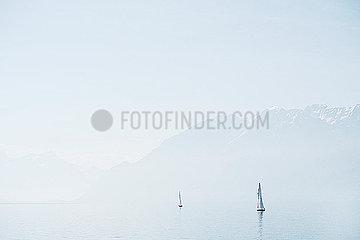 Segelboote auf dem Genfer See
