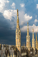 Italy  Milan  pinnacles and spires of Milan Cathedral