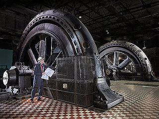 Industriedenkmal der Turbinenhalle der Voelklinger Huette