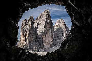 Blick auf eine Felsformation