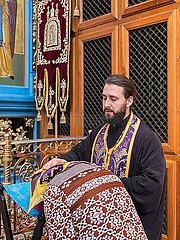 Russisch Orthodoxer Gottesdienst mit Predigern