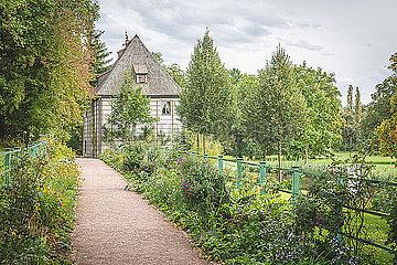 Germany  Weimar  view to Goethe Gartenhaus at Ilmpark in autumn p300m2077748
