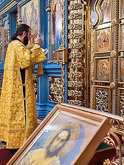 Russisch Orthodoxer Gottesdienst mit Predigern p390m2076252
