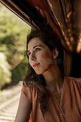 Frau im Orientexpress