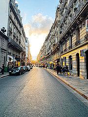 Strassenszene in Paris