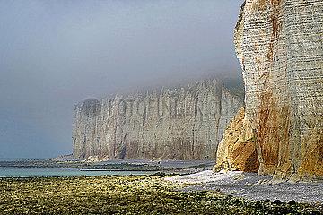 Steilkueste in der Normandie