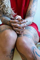 Taetowierte Frau