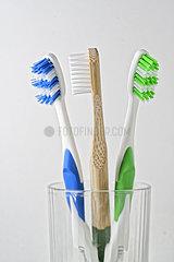 Plastikvermeidung: Holzzahnbuerste statt Plastikzahnbuerste. nusko_007905_167
