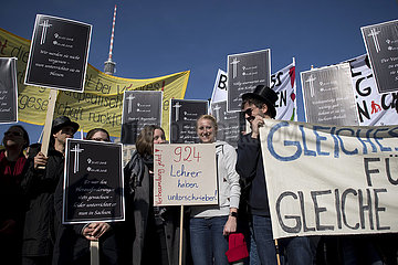 Lehrerprotest Parteitag SPD Berlin Lehrerprotest Parteitag SPD Berlin