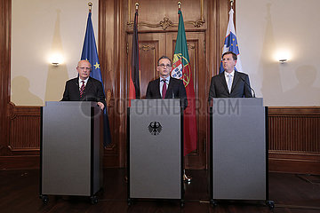 Treffen der Aussenminister Deutschlands  Portugals und Sloweniens im Format der Trio -Praesidentschaft der EU 360-berlin