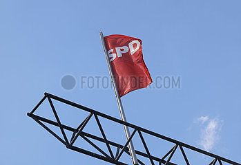 Vorstellung eines kommissarischen Fuehrungstrios  das den SPD-Vorsitz bis zur Neuwahl vertritt  Willy-Brandt-Hau 360-berlin