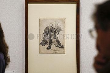 Ausstellung Rembrandts Strich im Kupferstich-Kabinett  Staatliche Kunstsammlungen Dresden 360-berlin