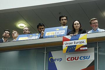 Reaktionen der Unionsparteien auf die Ergebnisse der Europawahl  Konrad-Adenauer-Haus 360-berlin