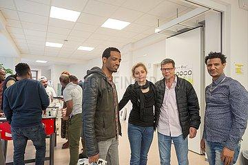 Gefluechtete in Giessen   Refugees in Giessen
