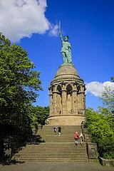 Hermannsdenkmal  Detmold  Nordrhein-Westfalen  Deutschland
