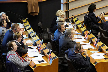 Bruessel  Region Bruessel-Hauptstadt  Belgien - Britische Abgeordnete im Europaparlament.