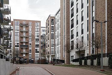 Neubau von Wohnungen in der Strassburger Strasse in Berlin-Prenzlauer Berg
