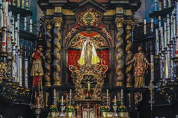 Altar der Kerzenkapelle  Kevelaer  Nordrhein-Westfalen  Deutschland