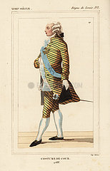 French man in court costume  1788  court of King Louis XVI.