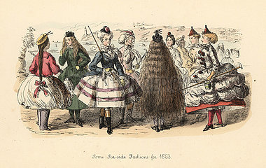 Some Sea-Side Fashions for 1863.