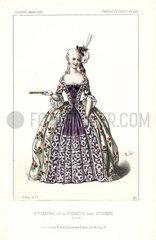 Mlle. Elisa Clarisse Lemenil as Poussette in Sylvandire  Act V  1845.