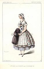 Belgian actress Eugenie Doche as Pierrette in Le Bonhomme Job by Emile Souvestre  Vaudeville  1846.