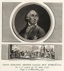 Louis Philippe II  Duke of Orleans (1747-1789).