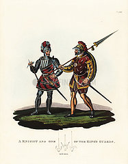 A knight and one of the king's guards  1525.