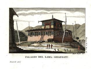 Residence of the Lam' Ghassatoo  Bhutan.