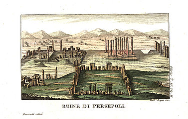 Ruins of Persepolis  or Takht-e-Jamshid  capital of the Achaemenid Empire.