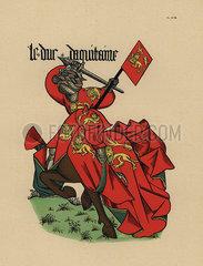 Duke of Aquitaine  Duc d'Aquitaine  with standard.