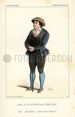 Etienne Arnal as Nantouillet in L'Homme Blase  1843.