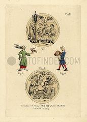 Fashions of 13th century England.