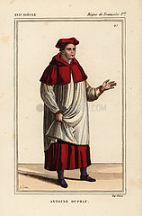 Antoine Duprat  French cardinal and politician  Chancellor of France  1463-1535.