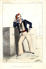 French comic actor Hugues Bouffe as Julien in Le Mousse  1846.