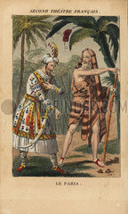 Eric Bernard and Joanny in Le Paria at the Second Theatre Francais  1821.