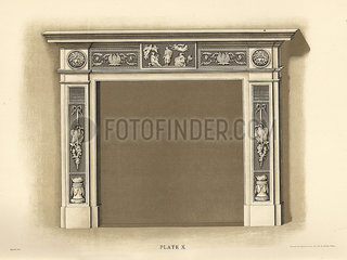 Mantelpiece from Longton Hall.