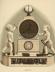 Clock in marble and ormolu.