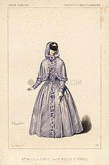 Mlle. Melcy as Amelie in Un Mari qui se Derange  1846.