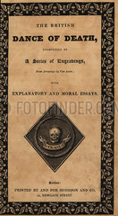 Title page with calligraphy and skulls and crossbones.