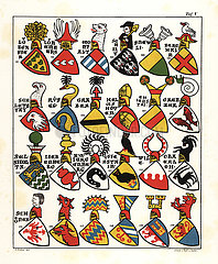 Swiss coats of arms  c. 1340.
