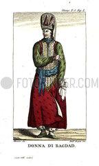 Woman of Baghdad in formal dress.